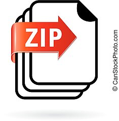 Archive zip file icon