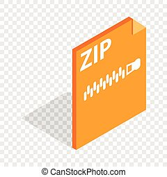 Archive ZIP format isometric icon