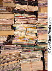 Archives. - Stack Retro Archives of paperwork.