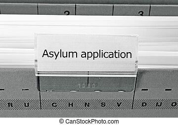 archivio appende, cartella, -, asilo, domanda