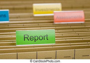 archivio appende, cartella, identificato, con, relazione