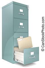 archivo, cabinet.