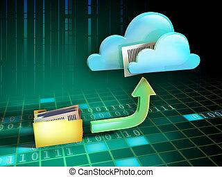 archivo, nube