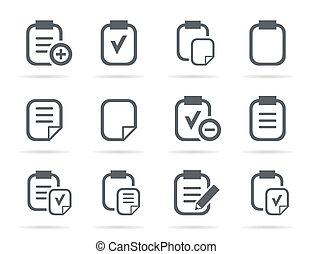 archivo, un, icono