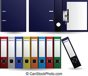 archivos, carpetas, vector