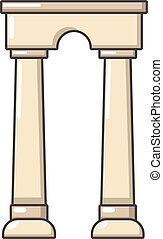 Archway egypt icon, cartoon style