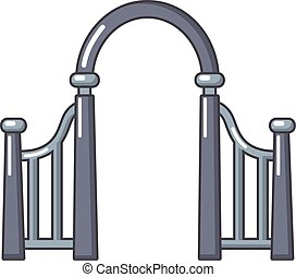 Archway metal icon, cartoon style