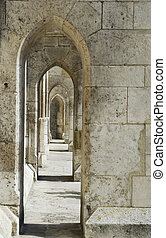 Archway of the cathedral in Regensburg