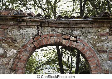 archway., pietra, esterno