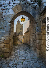 Archway to Beynac castle
