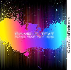 arco íris, água, espectro, cores, grungy, gotas