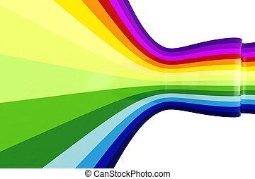 arco íris, abstratos, coloridos, fundo, 3d