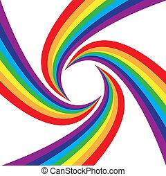 arco íris, abstratos, coloridos, fundo