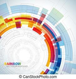 arco íris, abstratos, cores, fundo
