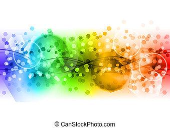 arco íris, abstratos