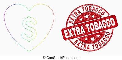 arco íris, amor, colorido, tabaco, extra, preço, vetorial, selo, ícone, pixel, angústia