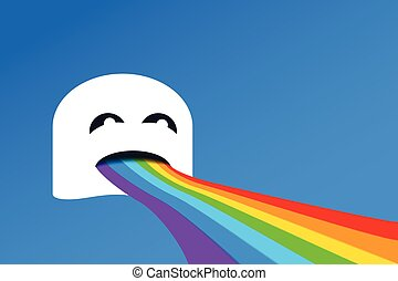 arco íris, boca