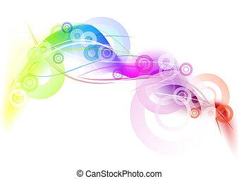 arco íris, círculo