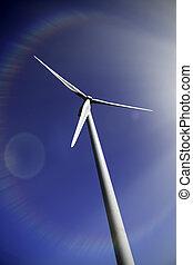 arco íris, chama, planet., lente, turbina, salvar, vento