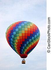 arco-íris colorido, balão ar quente