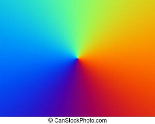 arco íris, composição, fundo
