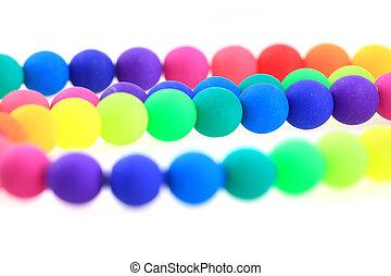 arco íris, contas, isolado