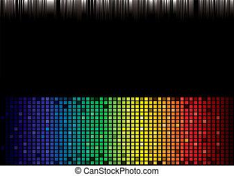 arco íris, espectro, fundo