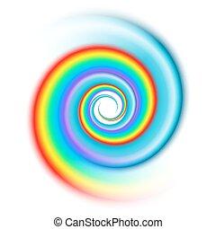 arco íris, espiral, espectro