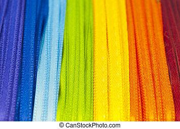 arco íris, fitas
