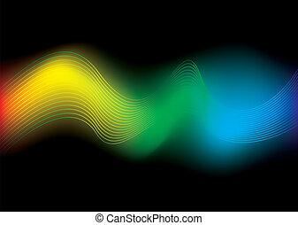 arco íris, fluxo, fundo