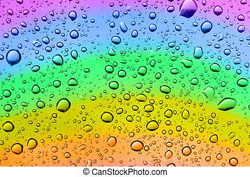 arco íris, gotas