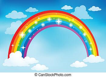 arco íris, imagem, 2, tema