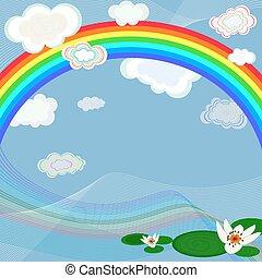 arco íris, luminoso, fundo