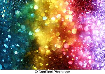 arco íris, luzes