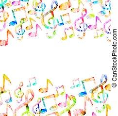 arco íris, música, fundo