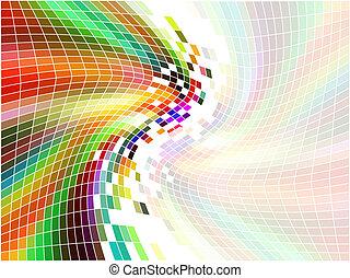 arco íris, mosaico