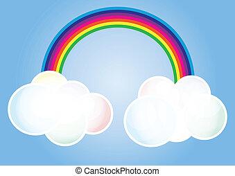 arco íris, nuvem