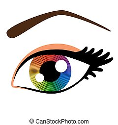 arco íris, olho