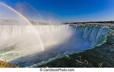 arco íris, ontário, niagara cai