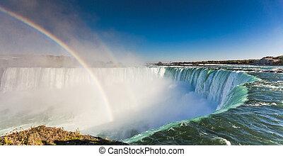 arco íris,  Ontário,  Niagara, quedas