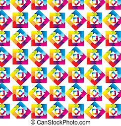 arco íris, padrão