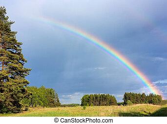 arco íris, paisagem