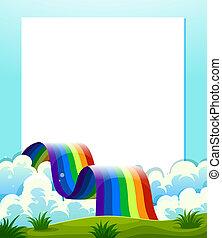 arco íris, papel, vazio, modelo, fundo
