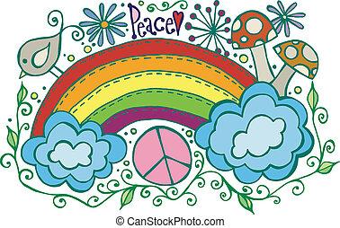 arco íris, paz