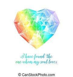 arco íris, pedra, heart.