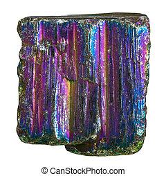 arco íris, pedra, pedaço, mineral, pyrite