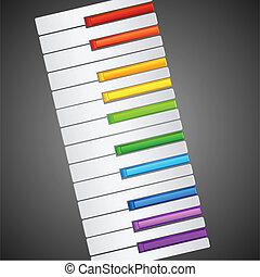 arco íris, piano