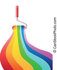 arco íris, pintura óleo