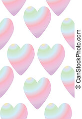 arco íris, seamless, coloridos, coração