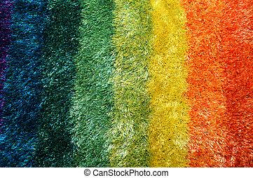 arco íris, tapete